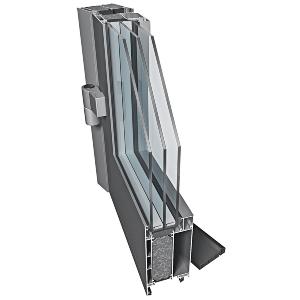 Drzwi Aluminiowe zew. ENERGOOSZCZĘDNE PE78N